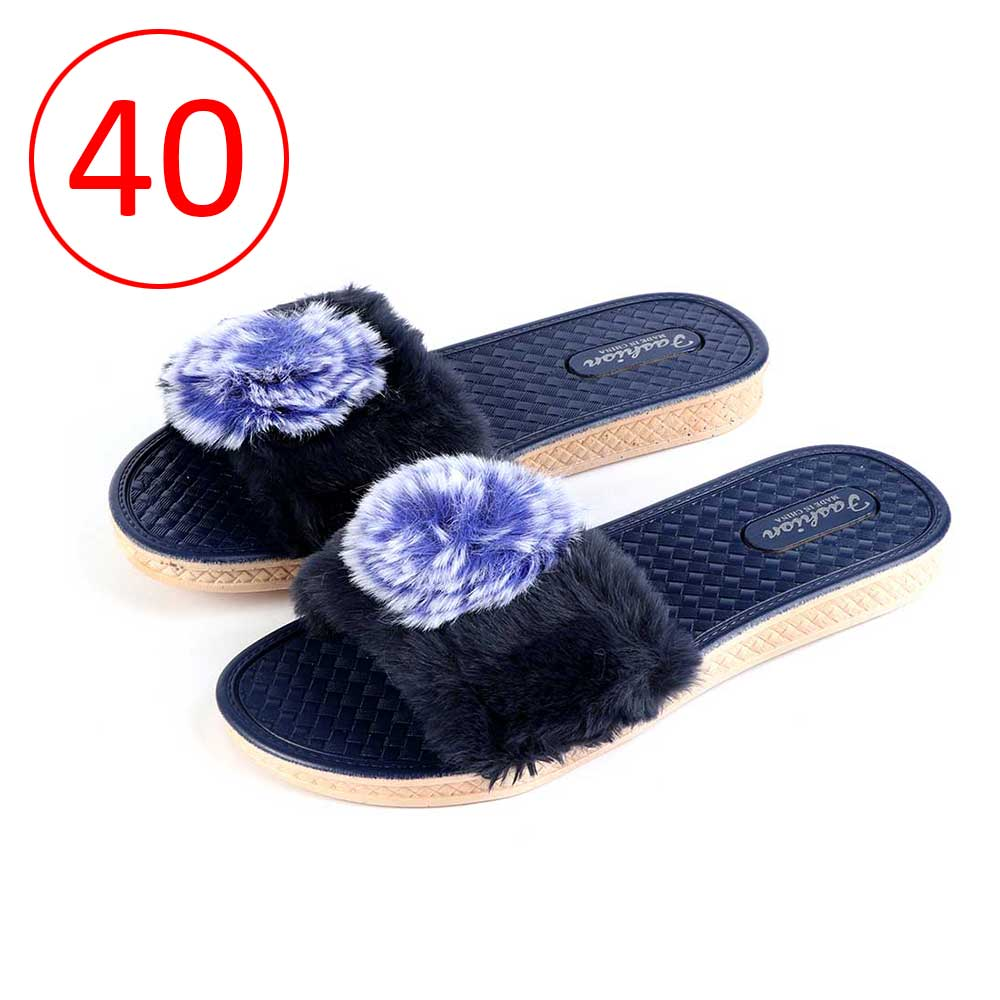 Fur Shoes For Women Size 40 Color Dark Blue متجر 15 وأقل