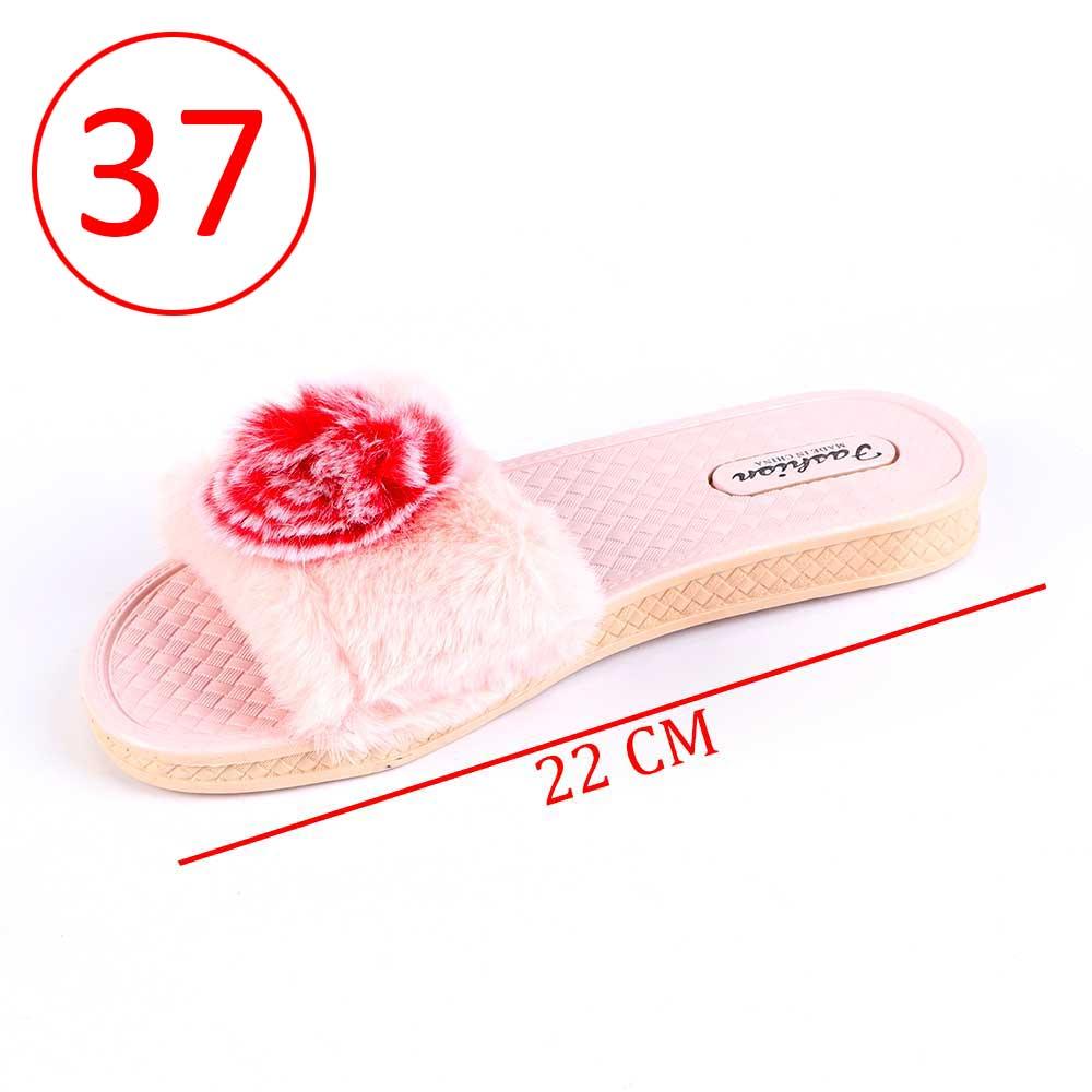 حذاء فرو للسيدات مقاس 37 لون وردي متجر 15 وأقل