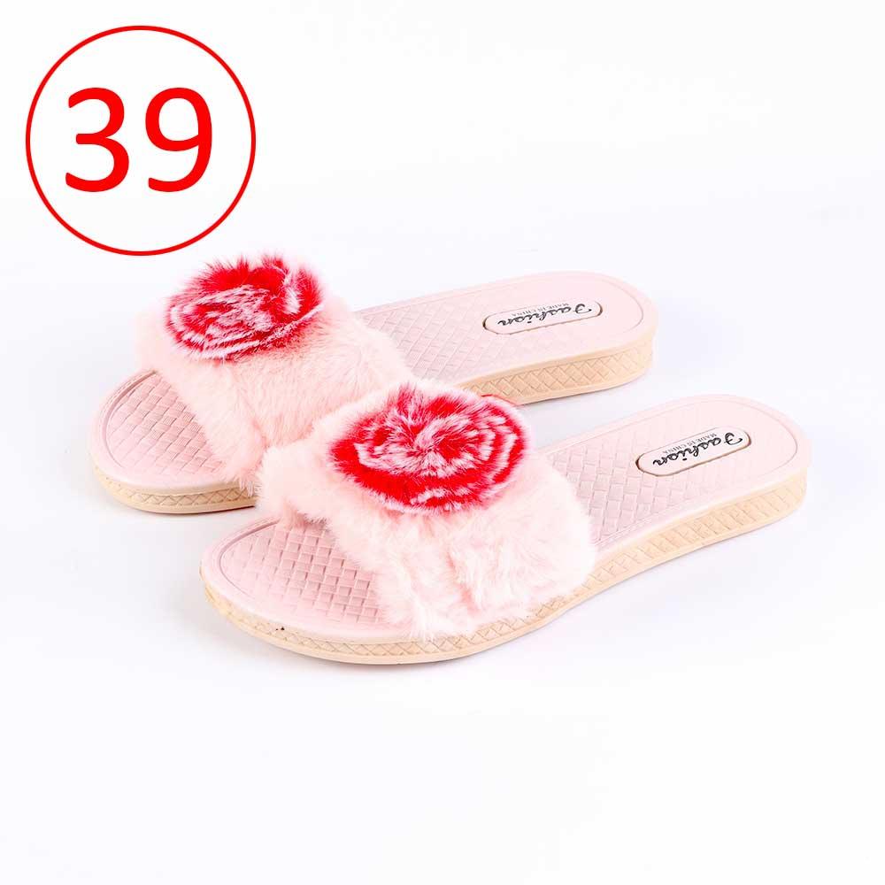 حذاء فرو للسيدات مقاس 39 لون وردي متجر 15 وأقل
