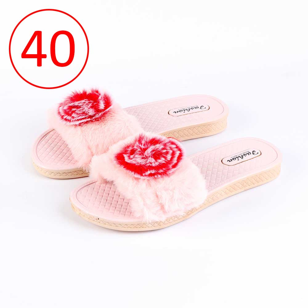 Fur Shoes For Women Size 40 Color Pink متجر 15 وأقل