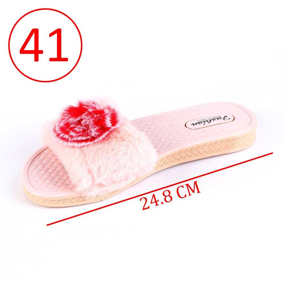 حذاء فرو للسيدات مقاس 41 لون وردي متجر 15 وأقل