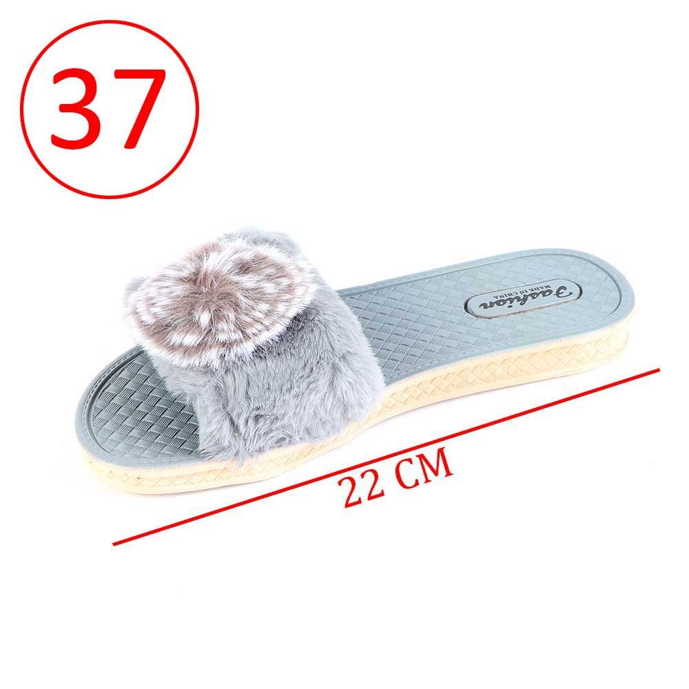 Fur Shoes For Women Size 37 Color Gray متجر 15 وأقل