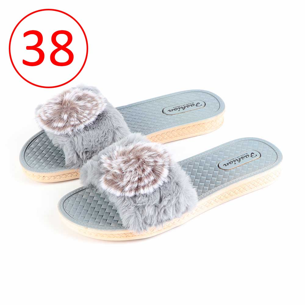 Fur Shoes For Women Size 38 Color Gray متجر 15 وأقل