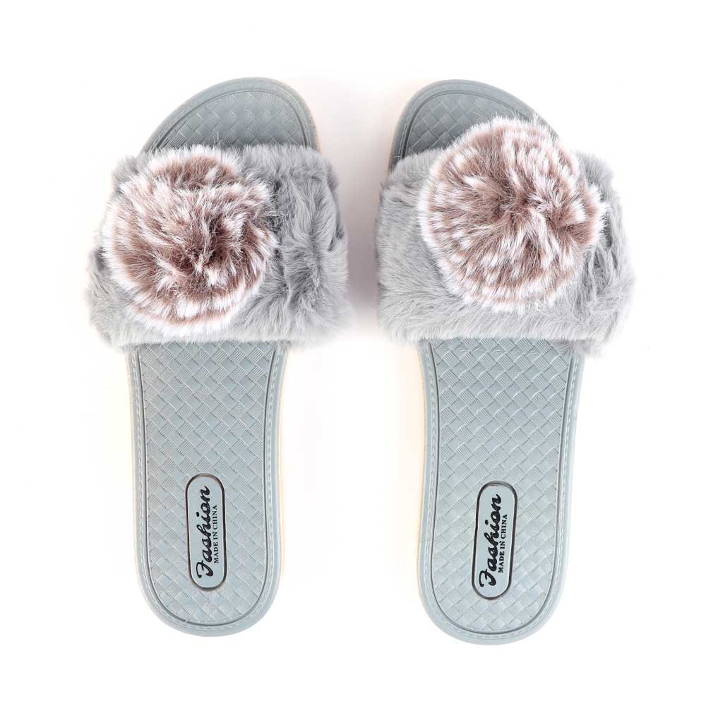 Fur Shoes For Women Size 40 Color Gray متجر 15 وأقل