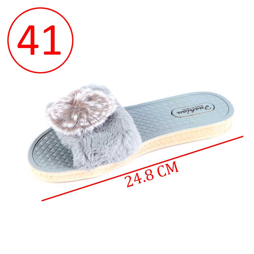 Fur Shoes For Women Size 41 Color Gray متجر 15 وأقل