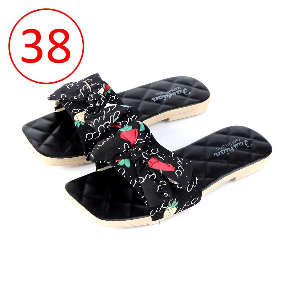 حذاء فيونكة للسيدات مقاس 38 لون أسود متجر 15 وأقل