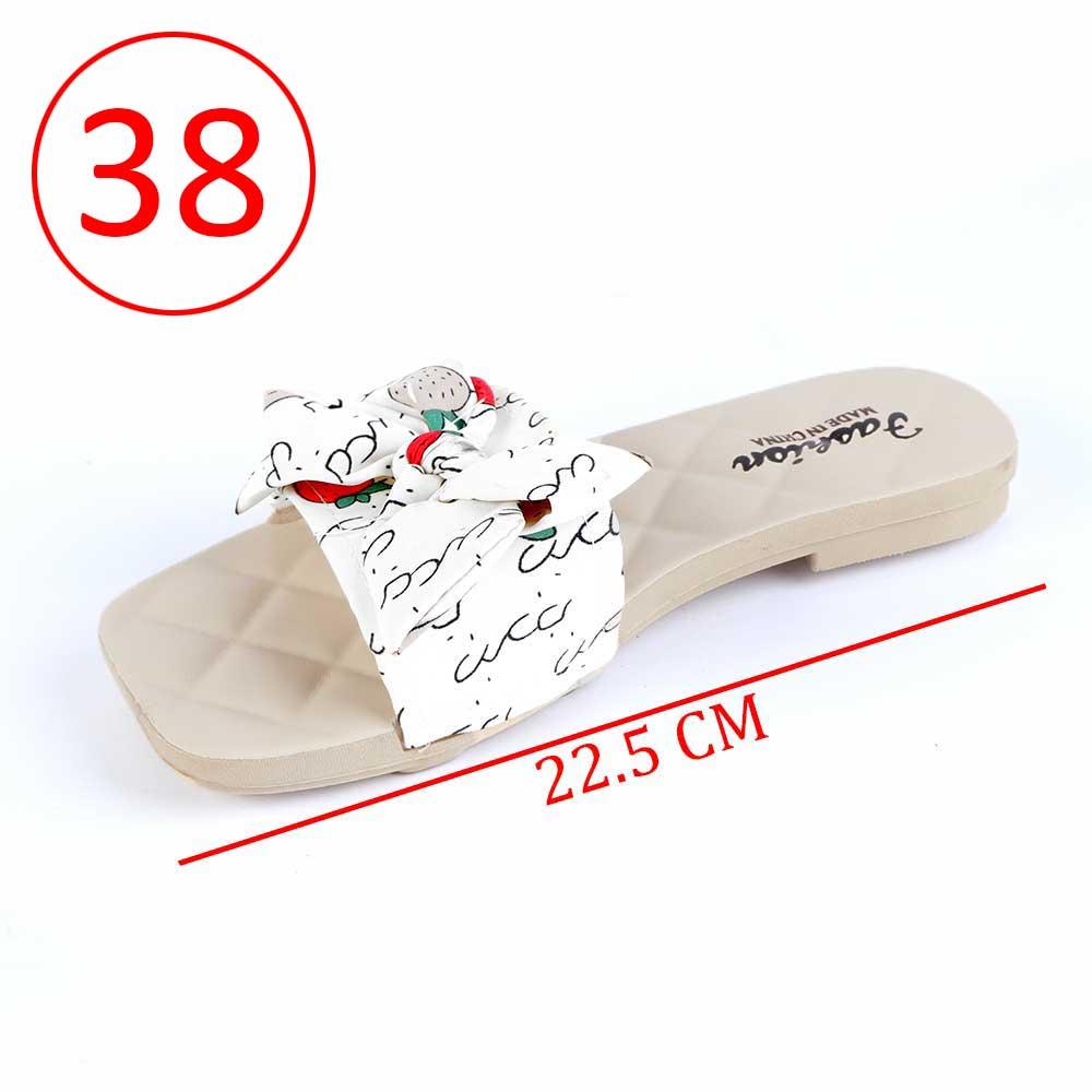 حذاء فيونكة للسيدات مقاس 38 لون أبيض متجر 15 وأقل