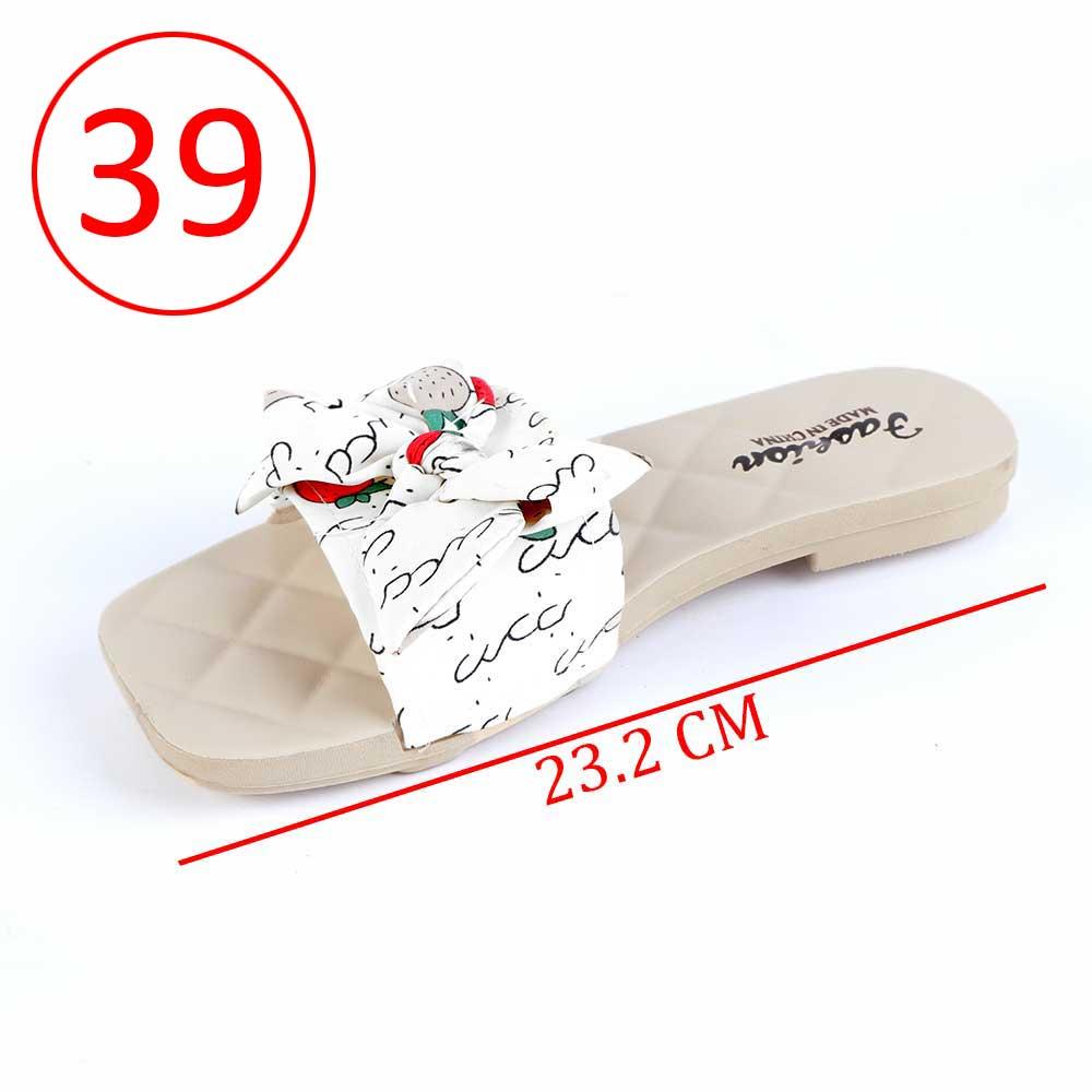حذاء فيونكة للسيدات مقاس 39 لون أبيض متجر 15 وأقل