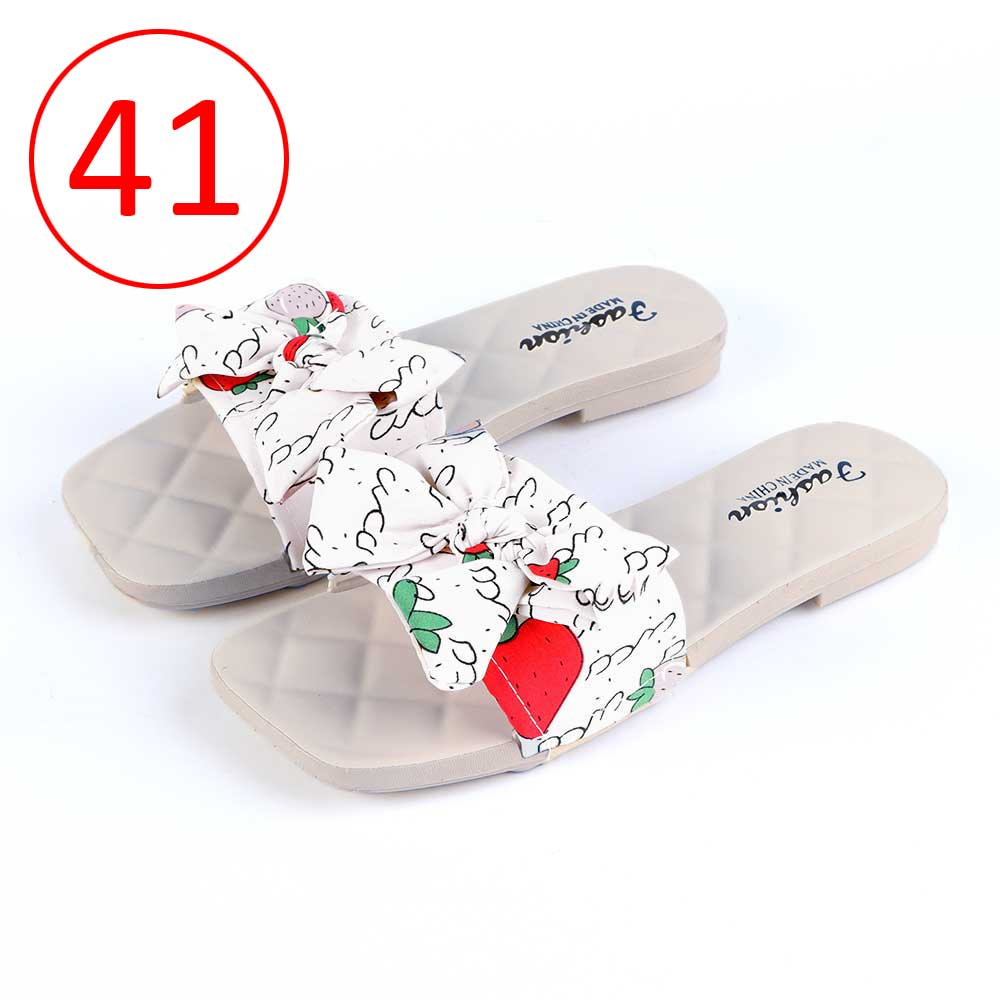 Bowknot Shoes For Women Size 41 Color White متجر 15 وأقل