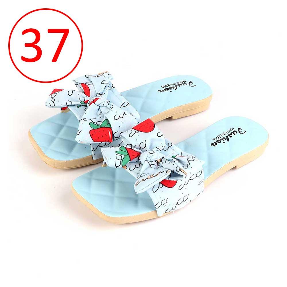 حذاء فيونكة للسيدات مقاس 37 لون أزرق متجر 15 وأقل