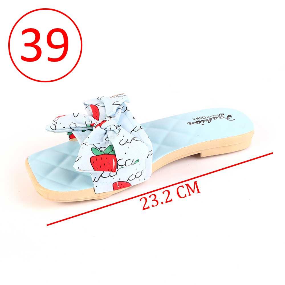 حذاء فيونكة للسيدات مقاس 39 لون أزرق متجر 15 وأقل