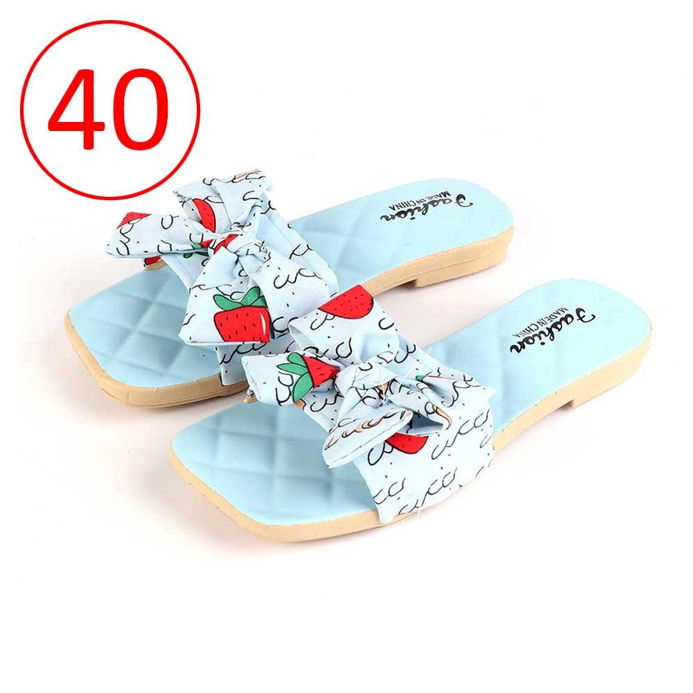حذاء فيونكة للسيدات مقاس 40 لون أزرق متجر 15 وأقل
