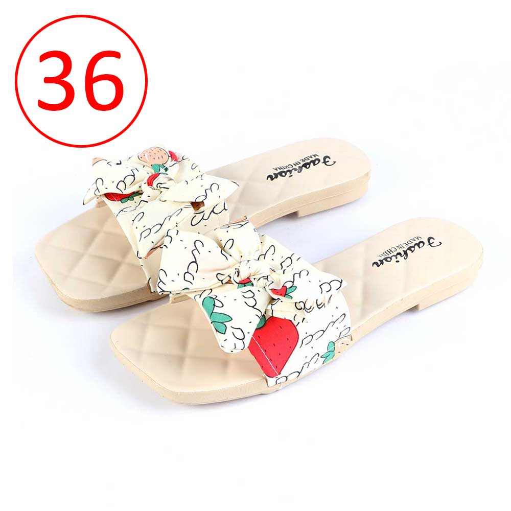Bowknot Shoes For Women Size 36 Color Beige متجر 15 وأقل