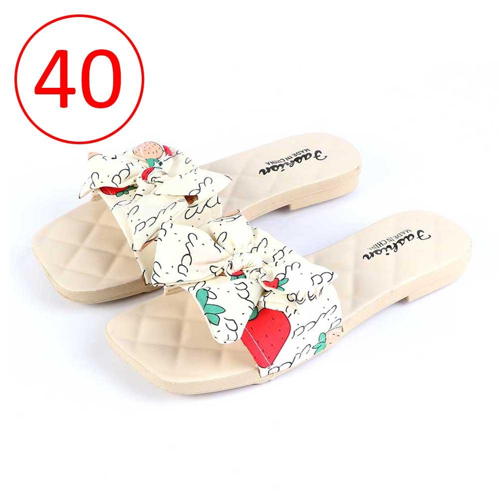 حذاء فيونكة للسيدات مقاس 40 لون بيج متجر 15 وأقل