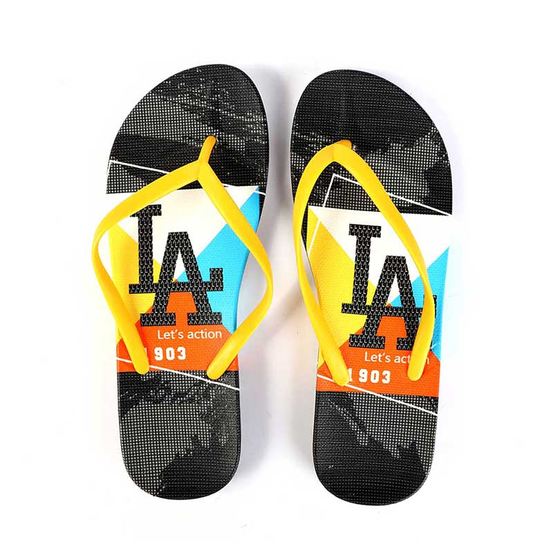 Plastic Shoes For Women With letters size 37 Color Yellow and Black متجر 15 وأقل