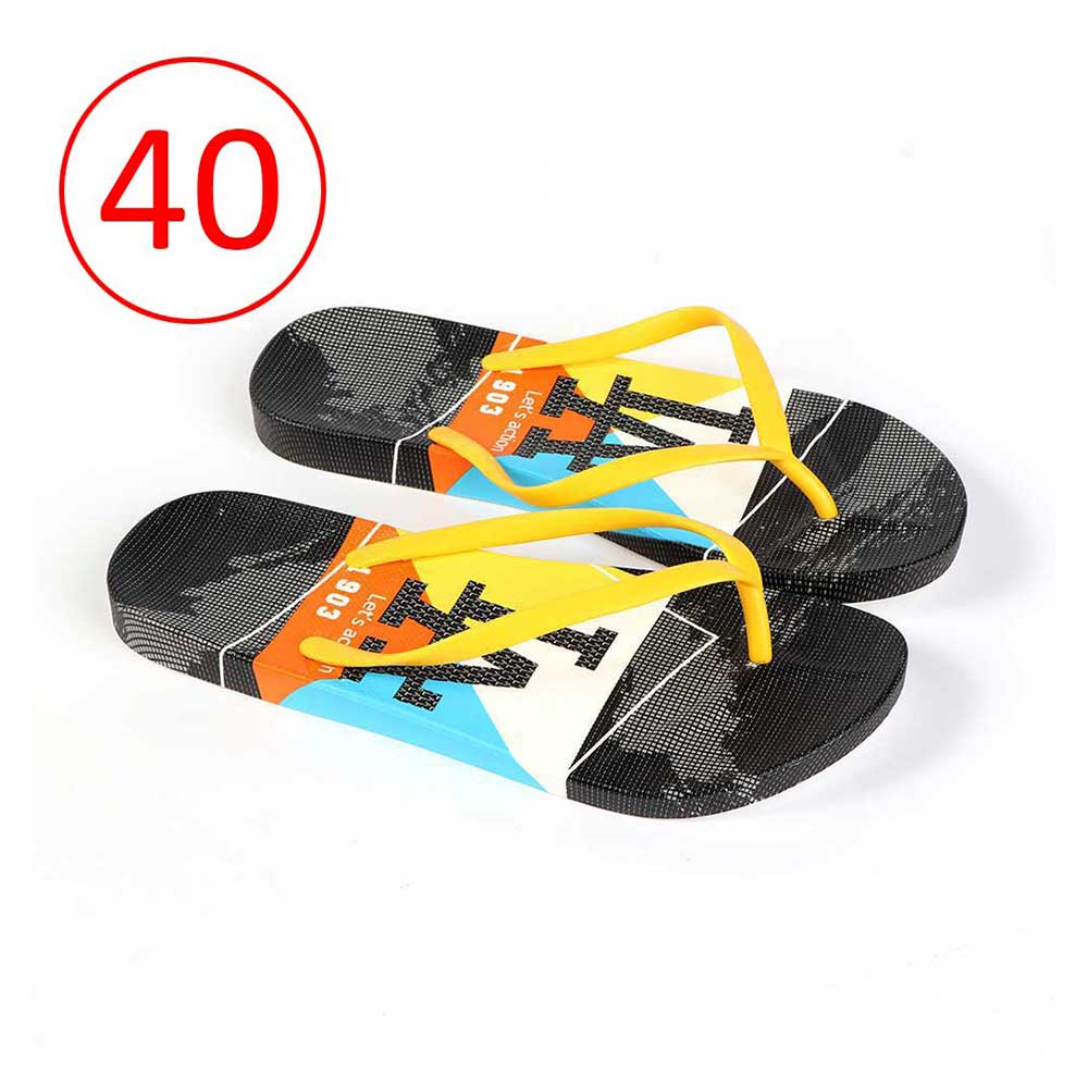 Plastic Shoes For Women With letters size 40 Color Yellow and Black متجر 15 وأقل