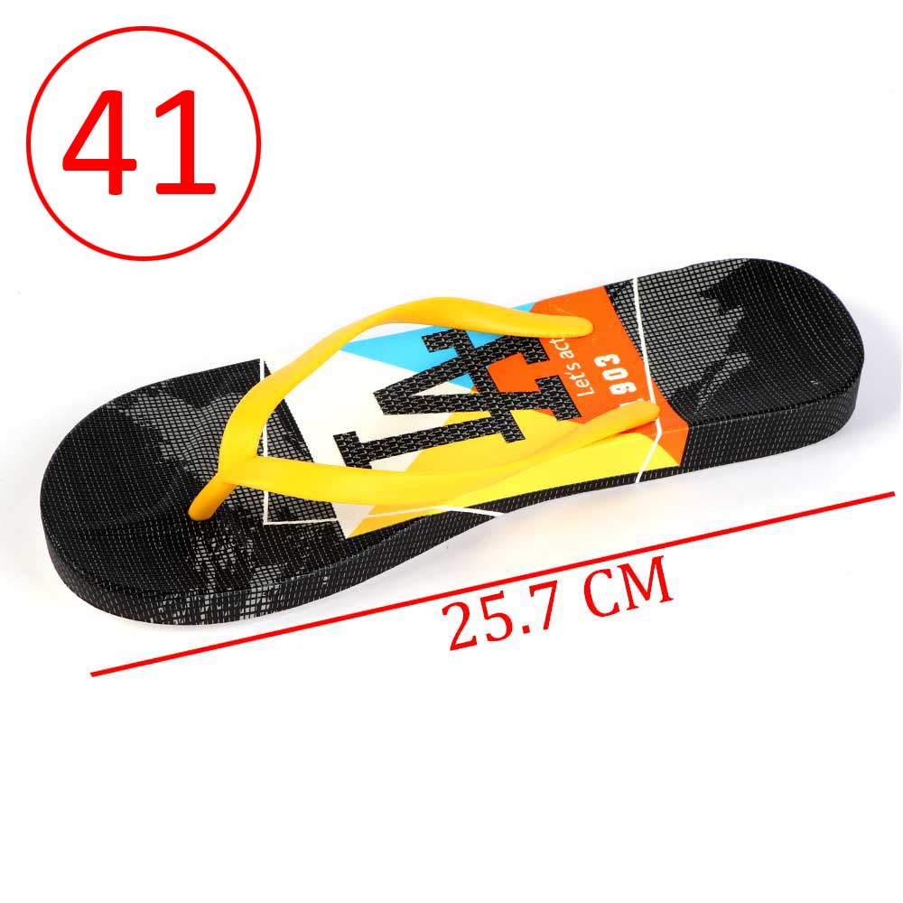 Plastic Shoes For Women With letters size 41 Color Yellow and Black متجر 15 وأقل