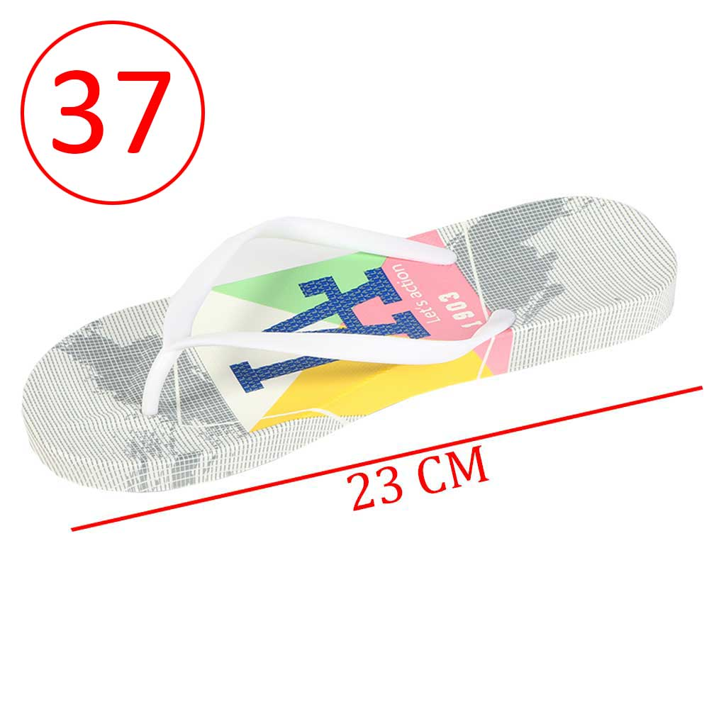 Plastic Shoes For Women With letters size 37 Color Gray and White متجر 15 وأقل