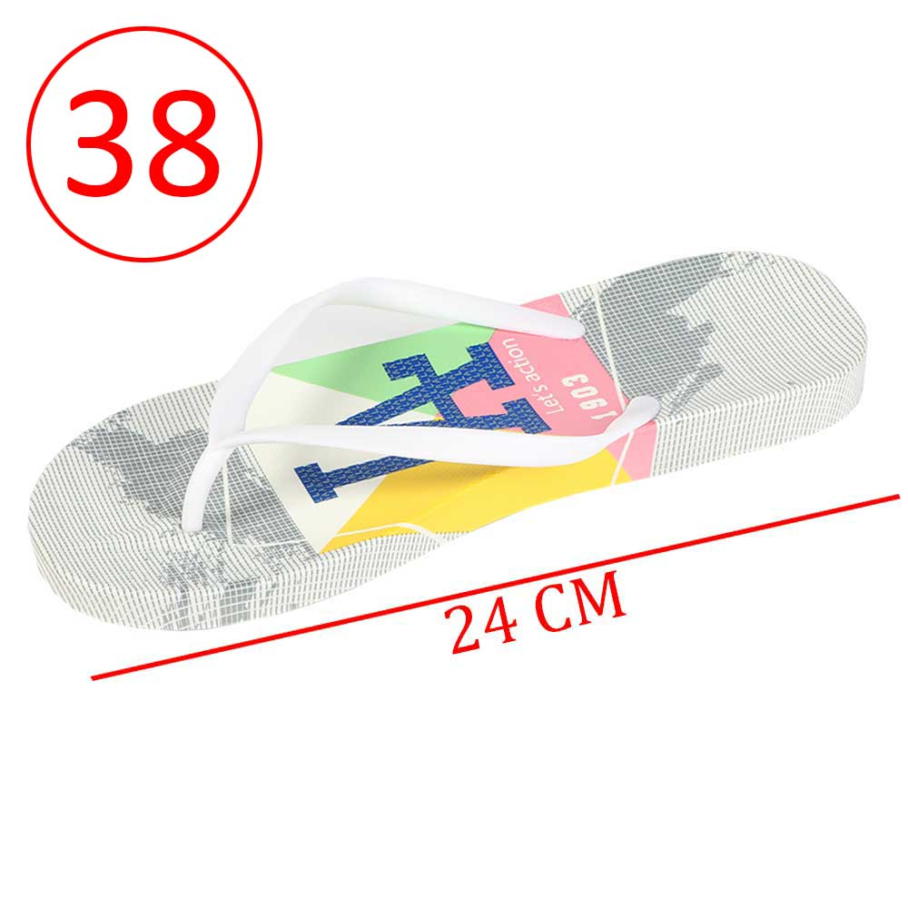 Plastic Shoes For Women With letters size 38 Color Gray and White متجر 15 وأقل