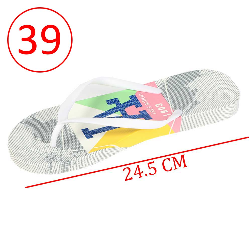 Plastic Shoes For Women With letters size 39 Color Gray and White متجر 15 وأقل