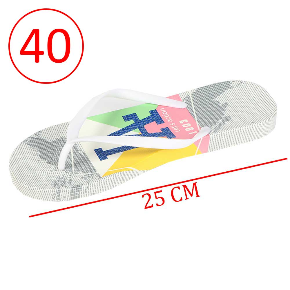 Plastic Shoes For Women With letters size 40 Color Gray and White متجر 15 وأقل