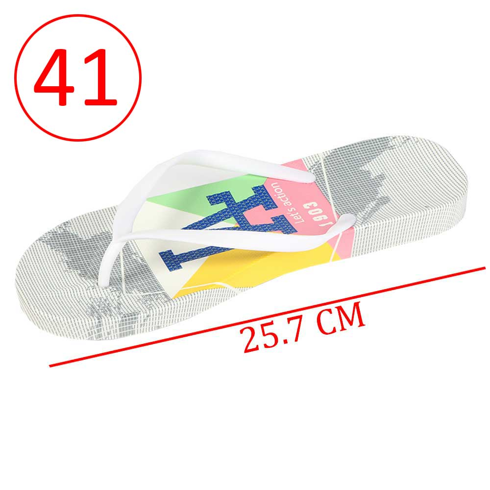 Plastic Shoes For Women With letters size 41 Color Gray and White متجر 15 وأقل