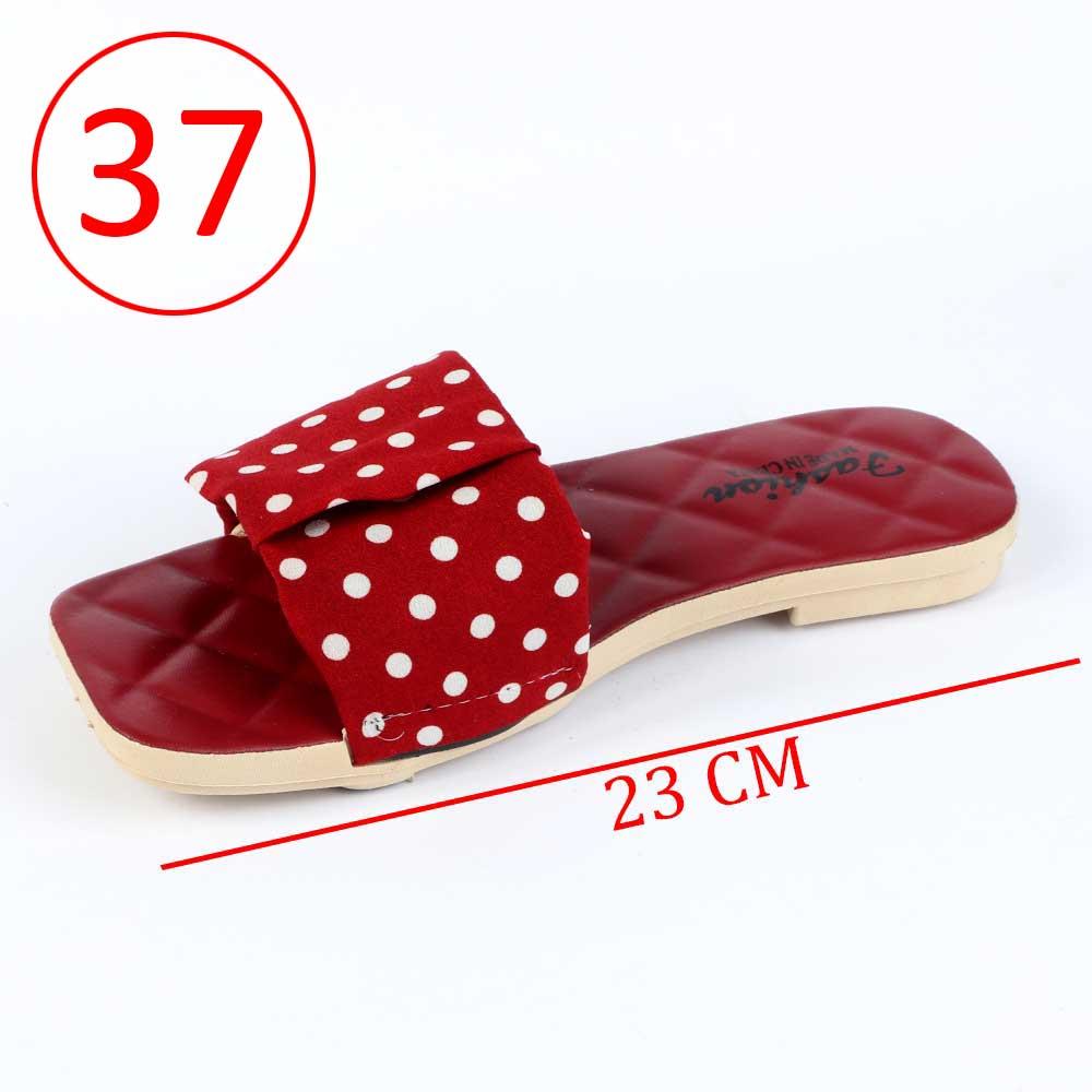 حذاء سيدات منقط مقاس 37 لون أحمر متجر 15 وأقل
