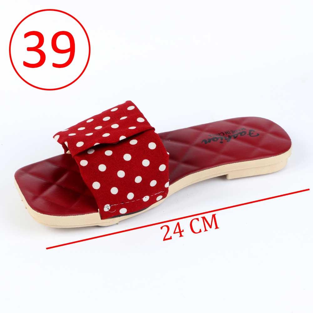 حذاء سيدات منقط مقاس 39 لون أحمر متجر 15 وأقل