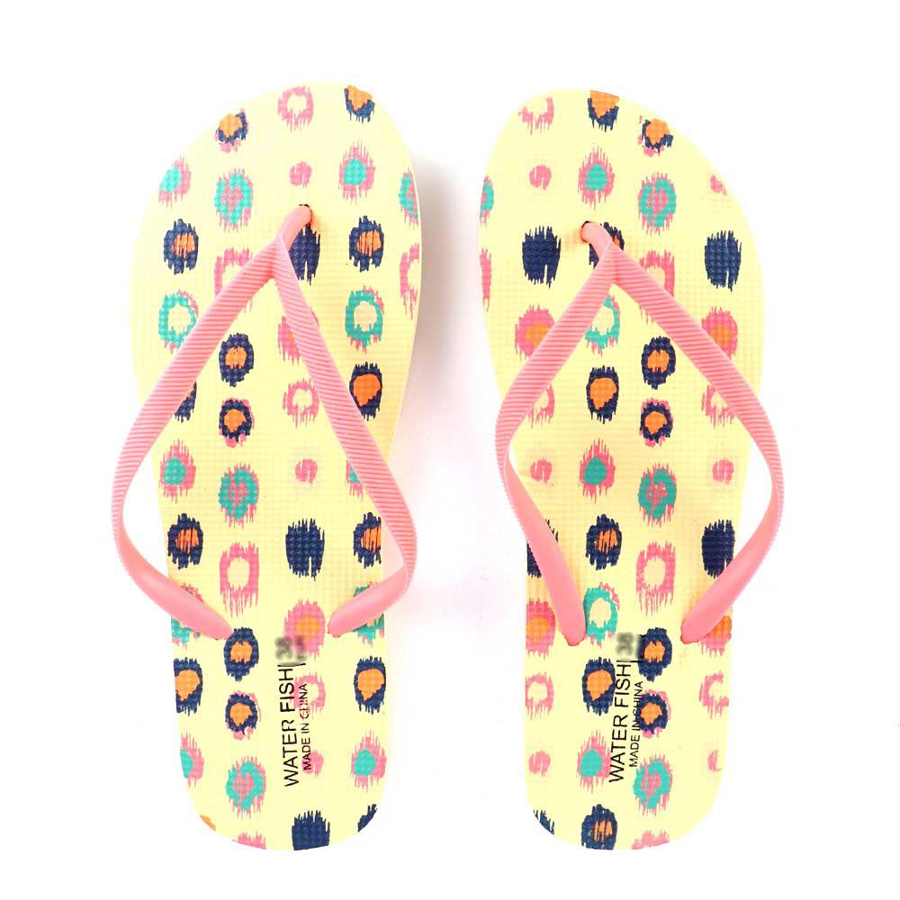 حذاء سيدات بنقاط ملونة مقاس 39 لون أصفر متجر 15 وأقل
