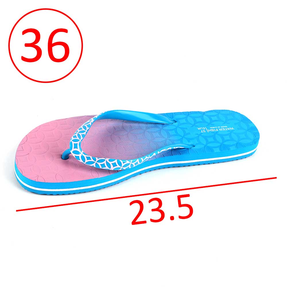 Two-Color Shoes For Women Size 36 - Color Blue and Pink متجر 15 وأقل