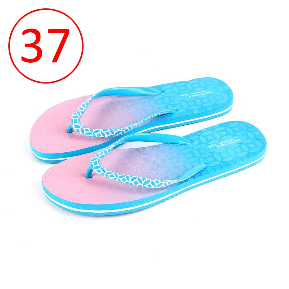 حذاء لونين للسيدات مقاس 37 لون أزرق و وردي متجر 15 وأقل