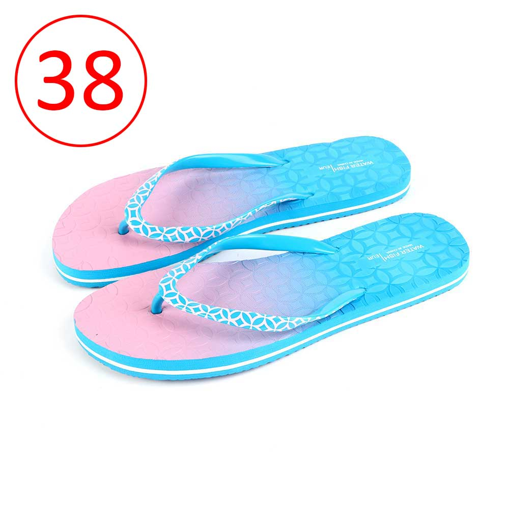 Two-Color Shoes For Women Size 38 - Color Blue and Pink متجر 15 وأقل