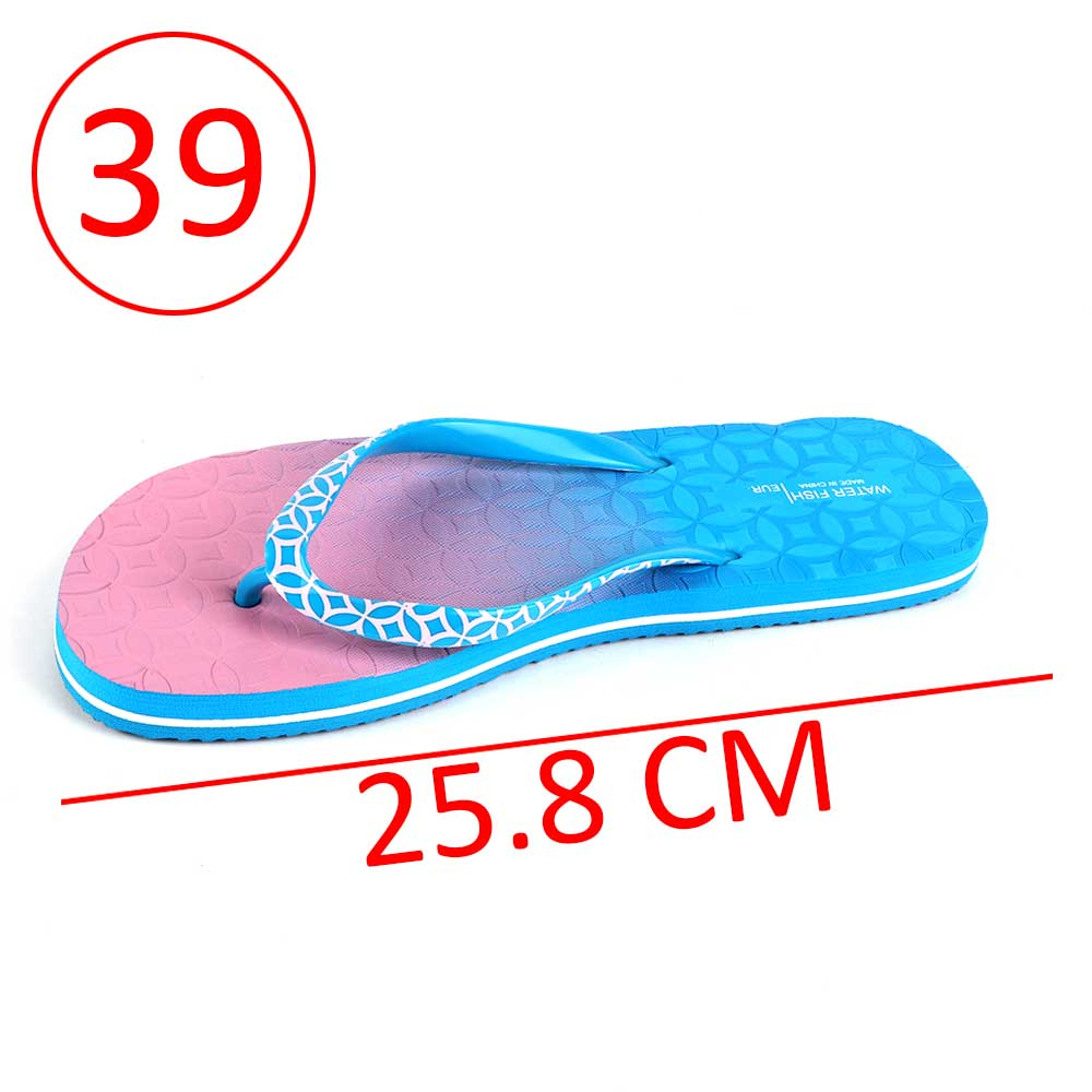 Two-Color Shoes For Women Size 39 - Color Blue and Pink متجر 15 وأقل