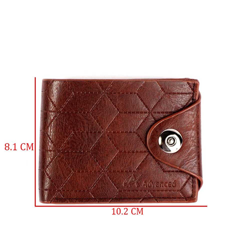 محفظة جلدية رجالية لون بني غامق متجر 15 وأقل