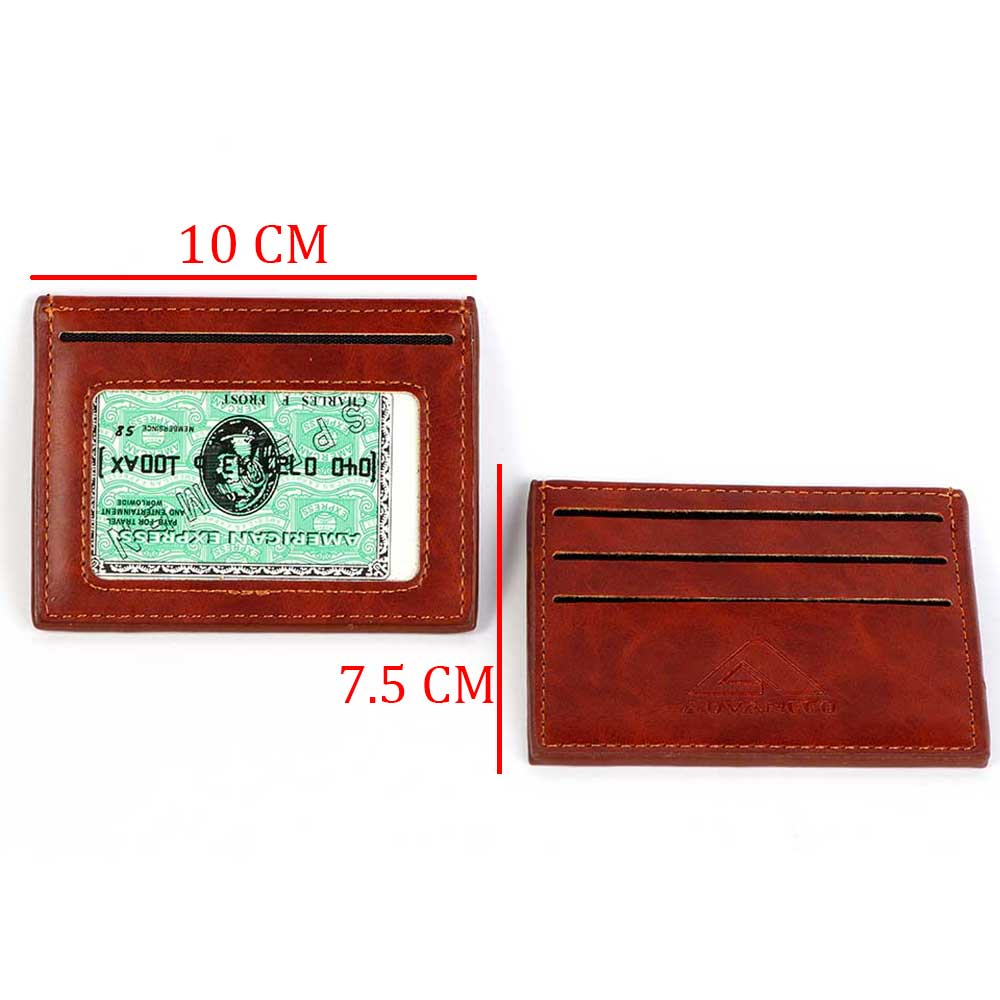 Men's wallets for cards Brown color متجر 15 وأقل