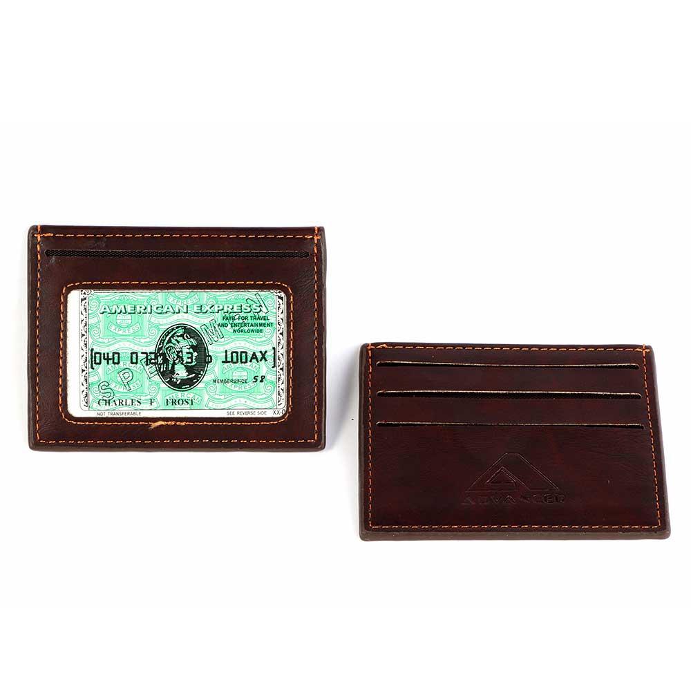 محفظة رجالي للبطاقات لون بني غامق متجر 15 وأقل
