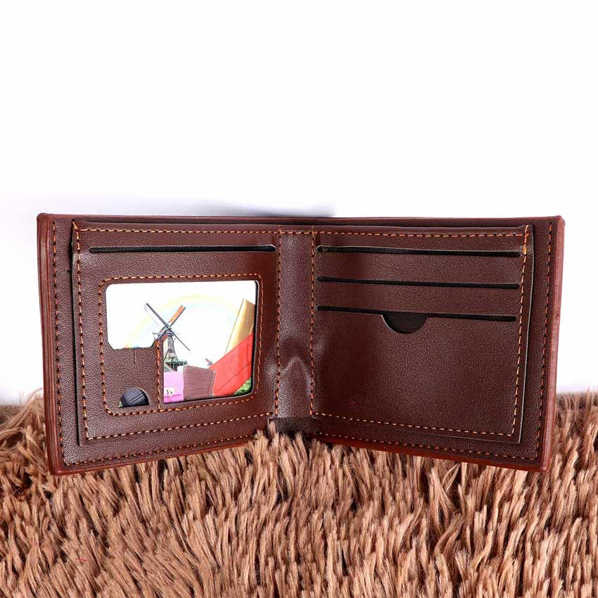 Mens wallets for cards dark brown color متجر 15 وأقل
