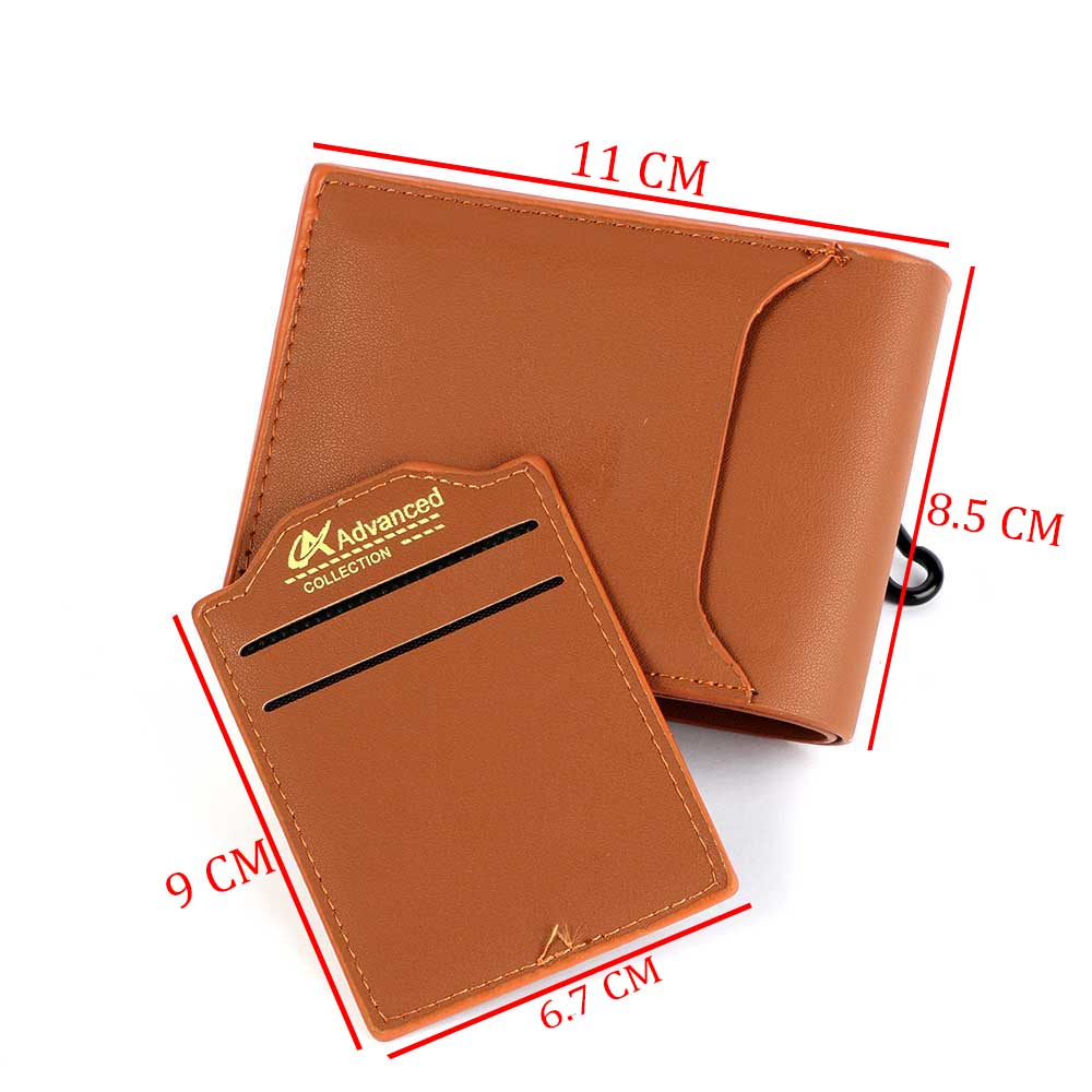 Men wallets for cards brown color متجر 15 وأقل