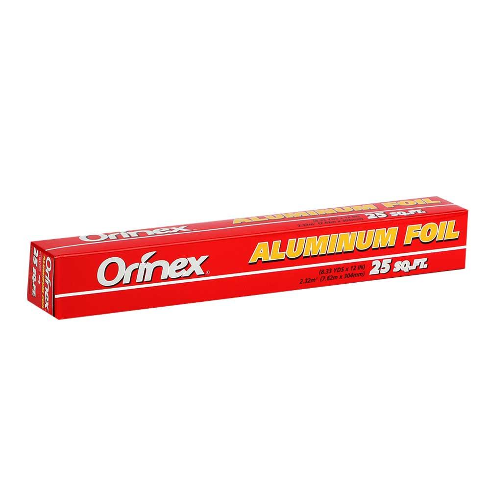 Orinex Aluminum Foil 25 sqft متجر 15 وأقل