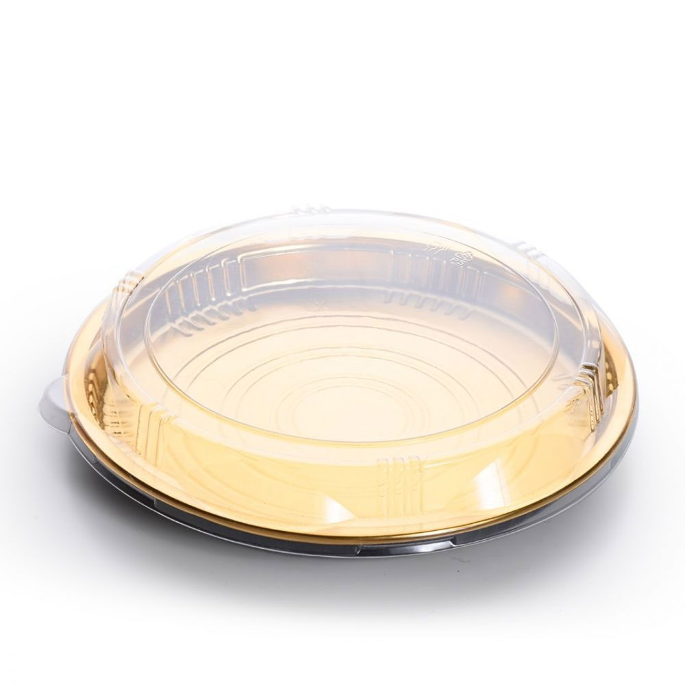 Round Bowl With Golden Base- Two pieces متجر 15 وأقل