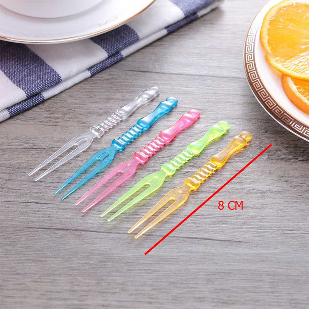 Set Of Small Plastic Sweets Fork With Elegant Design 50 Pcs Multi Colored متجر 15 وأقل