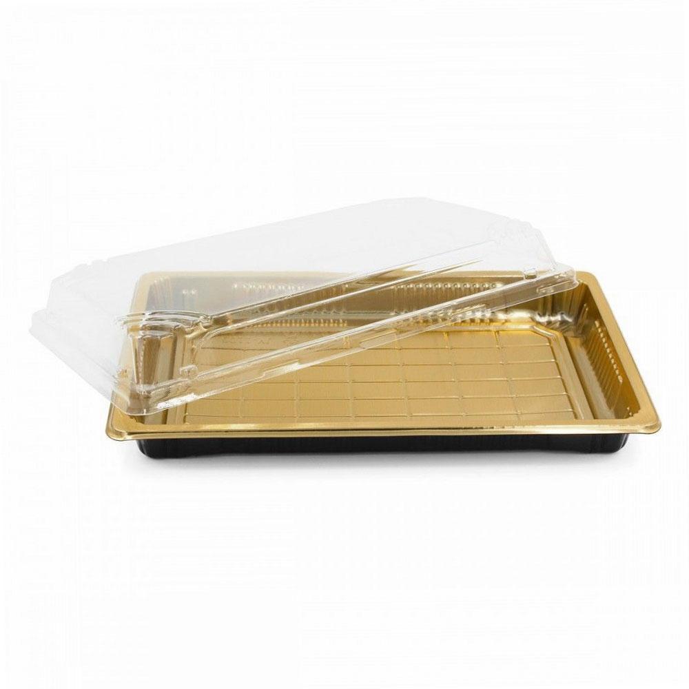 وعاء مستطيل بقاعدة ذهبية 4 قطع متجر 15 وأقل