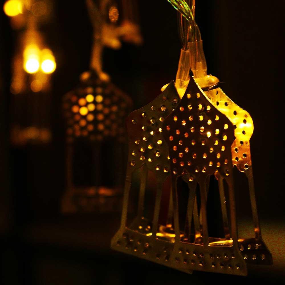 أضواء تعليق ليد بأشكال فونيس رمضان 1.80 متر لون ذهبي متجر 15 وأقل