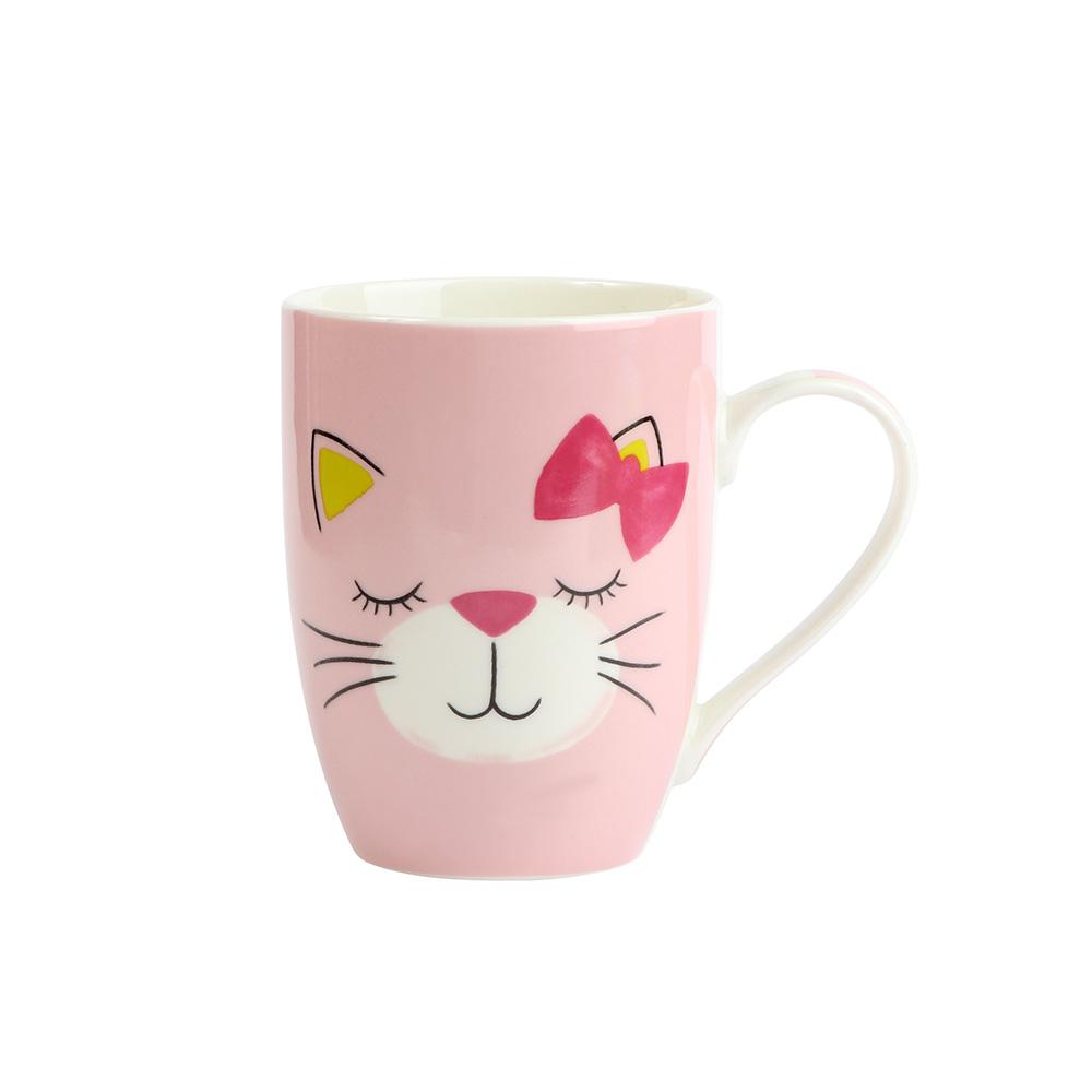 كوب السراميك ( مج ) لون وردي بشخصية قطة متجر 15 وأقل