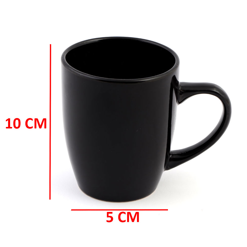 Black Ceramic Cup on the Outside and From The Inside in an Modren Style. متجر 15 وأقل