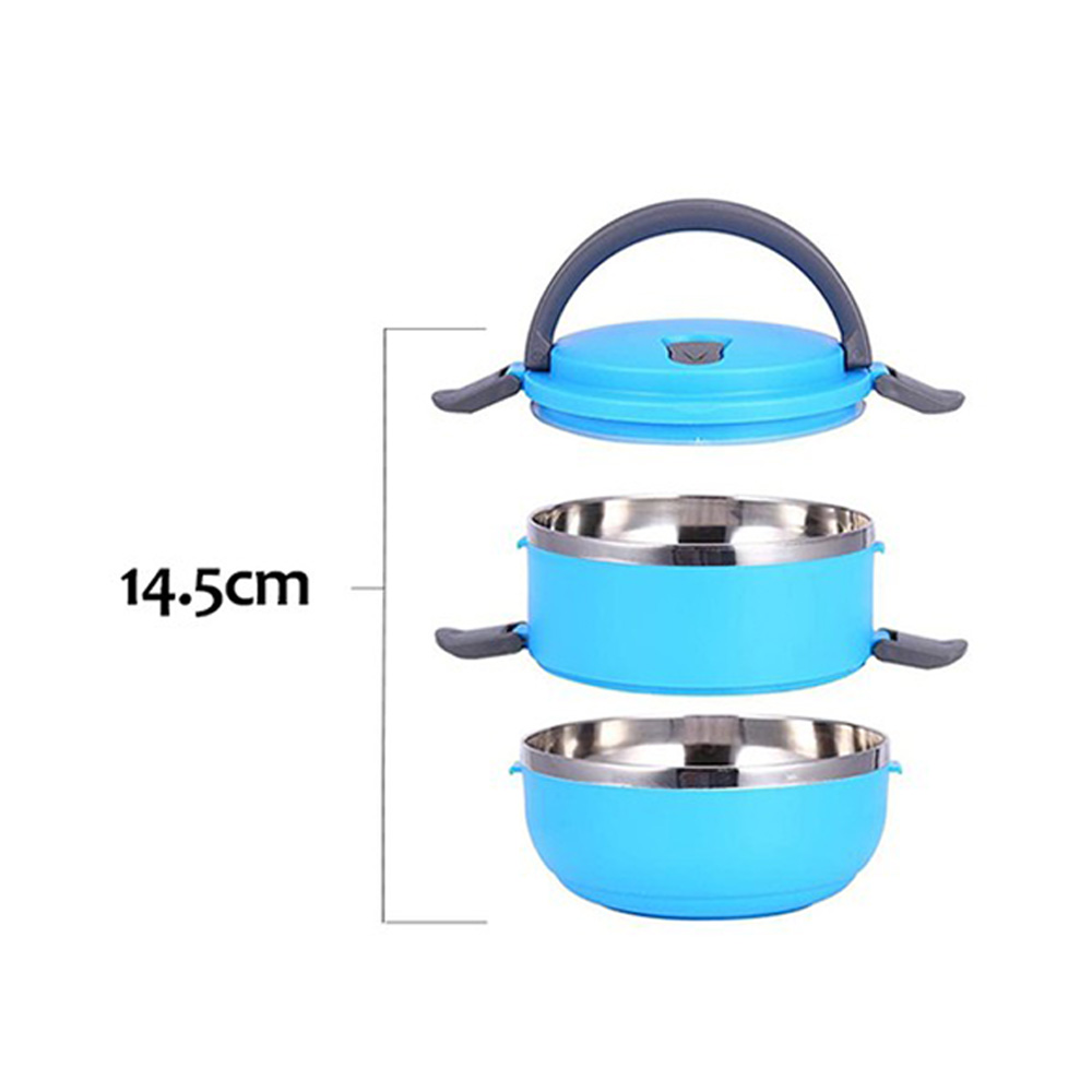 Double Tier Lunch Box Color Blue 1.4 Liter متجر 15 وأقل