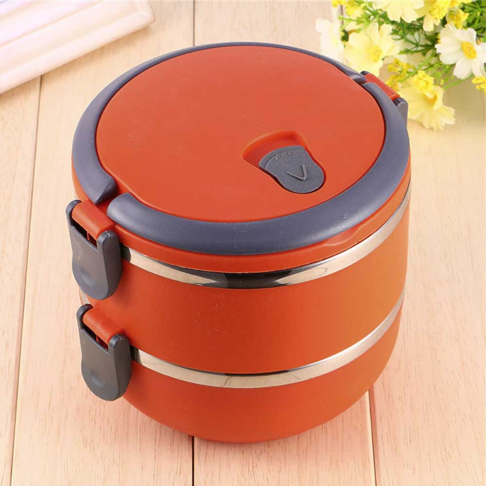Double Tier Lunch Box Color Red 1.4 Liter متجر 15 وأقل