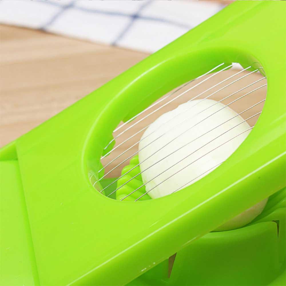 Plastic Egg Slicer 2 In 1 Color Green متجر 15 وأقل