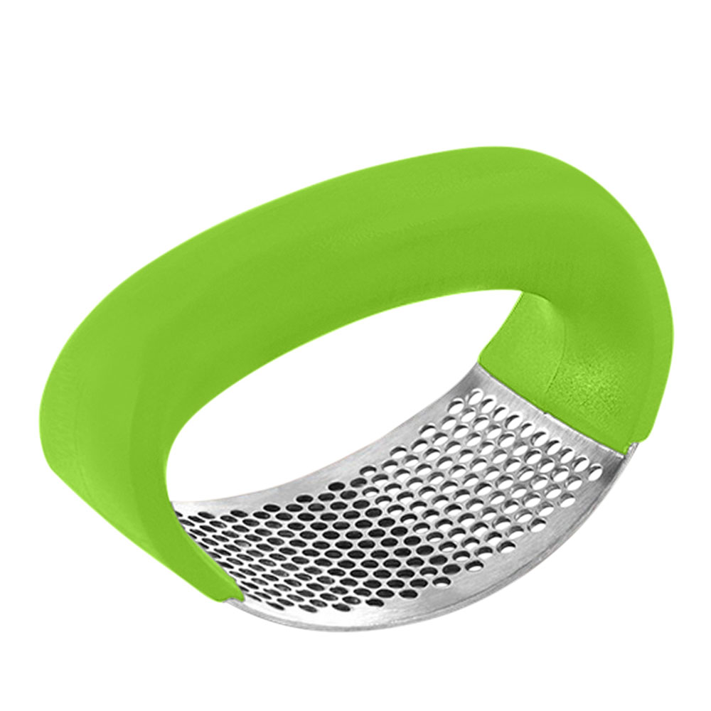 Garlic Press Stainless Presser Curved Slicer Color Green متجر 15 وأقل