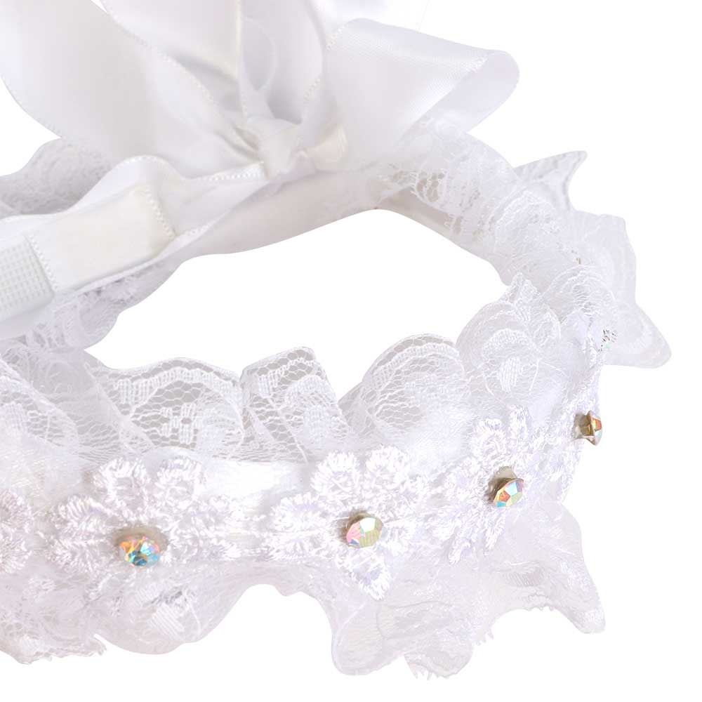 Girl's Lace Hoop Color White متجر 15 وأقل